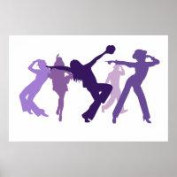Jazz Dancers Illustration Poster