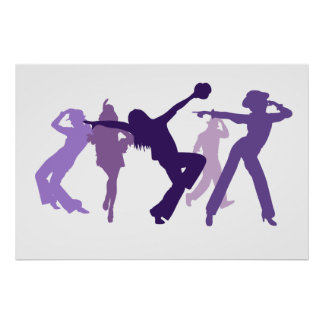 Jazz Dancers Illustration Poster