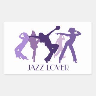 Jazz Dancers Illustration Rectangular Sticker