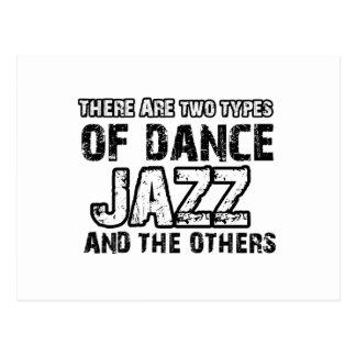 Jazz dancing designs postcard