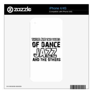 Jazz dancing designs iPhone 4 skins