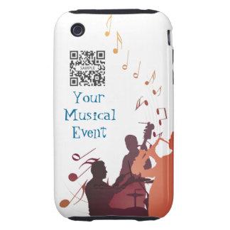 jazz de la música de la plantilla del caso del iPhone 3 tough protector