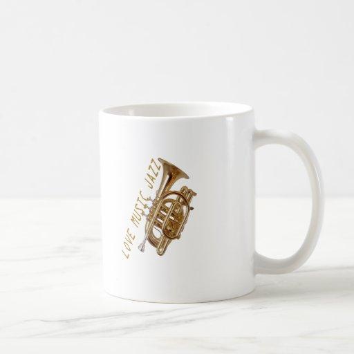 Jazz de la música del amor taza clásica