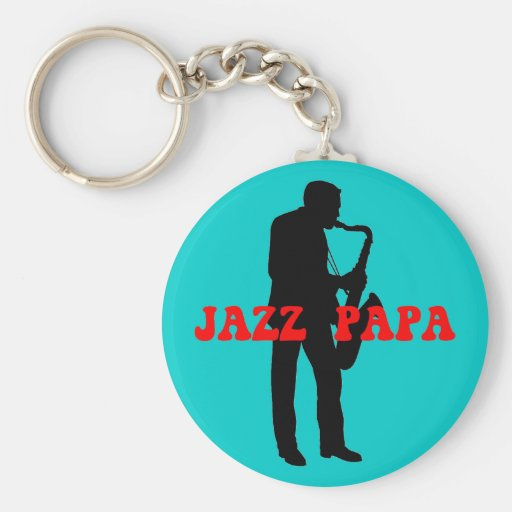 Jazz de la papá del jazz llavero redondo tipo pin