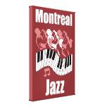 Jazz de Montreal Impresion En Lona