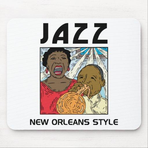 Jazz de New Orleans Alfombrilla De Ratón