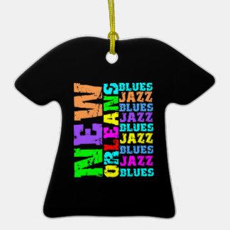Jazz de NEW ORLEANS Adorno De Cerámica En Forma De Camiseta
