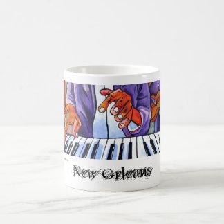Jazz de New Orleans Taza Básica Blanca