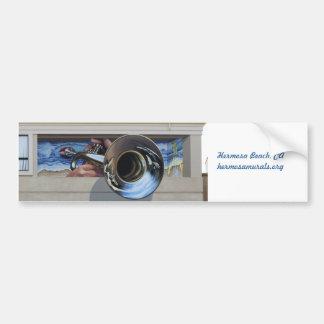 Jazz de parachoques de la costa oeste de Sticker~M Pegatina Para Auto