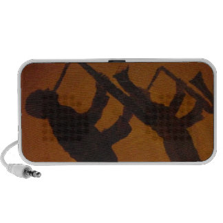 Jazz del arte de Brown Saxiphone Notebook Altavoces