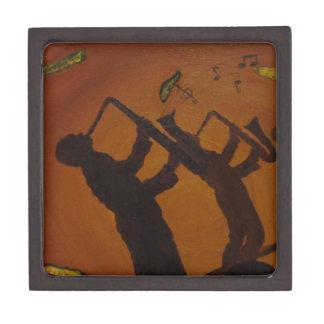 Jazz del arte de Brown Saxiphone Cajas De Joyas De Calidad