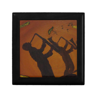 Jazz del arte de Brown Saxiphone Caja De Recuerdo