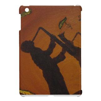 Jazz del arte de Brown Saxiphone iPad Mini Fundas