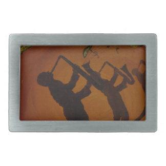 Jazz del arte de Brown Saxiphone Hebilla Cinturón