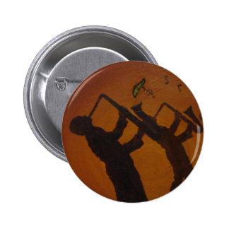 Jazz del arte de Brown Saxiphone Pin