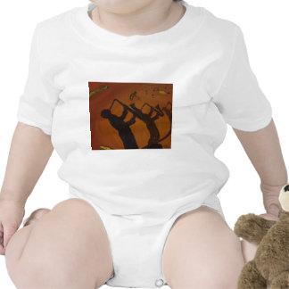 Jazz del arte de Brown Saxiphone Trajes De Bebé