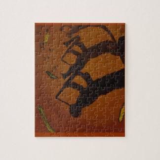 Jazz del arte de Brown Saxiphone Puzzles Con Fotos
