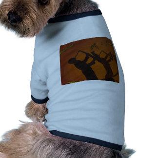 Jazz del arte de Brown Saxiphone Camisa De Perrito