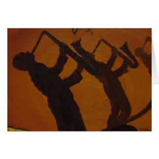 Jazz del arte de Brown Saxiphone Tarjeta