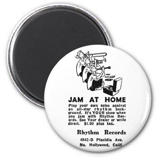 Jazz del atasco del anuncio del vintage del kitsch imanes
