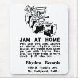 Jazz del atasco del anuncio del vintage del kitsch alfombrilla de ratón