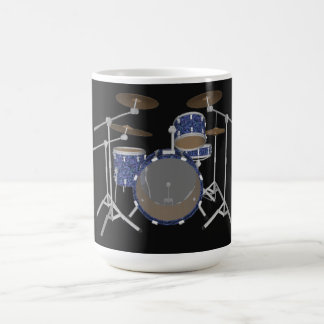 Jazz Drum Kit: Custom Blue Drums Set: Coffee Mug