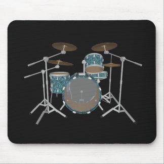 Jazz Drum Set - Custom Green Finish - Mousepad