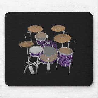 Jazz Drum Set - Custom Violet Drums - Mousepad