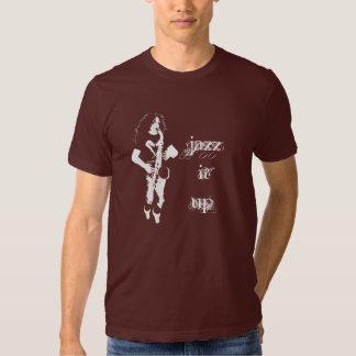 Jazz él encima de la camiseta del jugador de playera