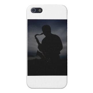 ¡JAZZ ÉL PARA ARRIBA! silueta del jugador de iPhone 5 Carcasa