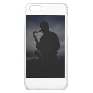 ¡JAZZ ÉL PARA ARRIBA! silueta del jugador de saxof