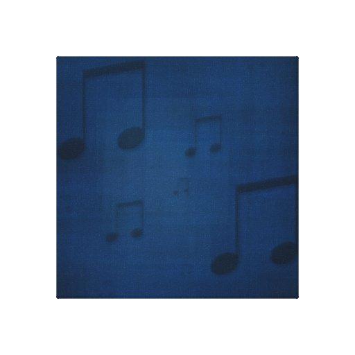 Jazz en la impresión envuelta azul de la lona impresión en lona