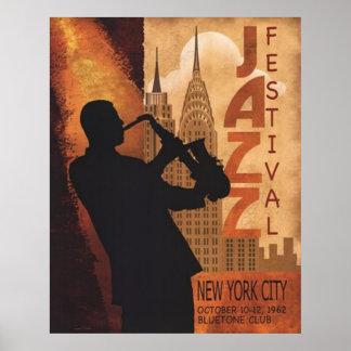 Jazz-en-Nuevo poster del vintage de York