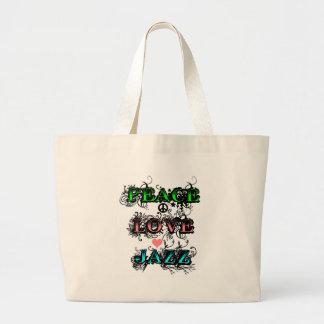 Jazz enrrollado del amor de la paz bolsas