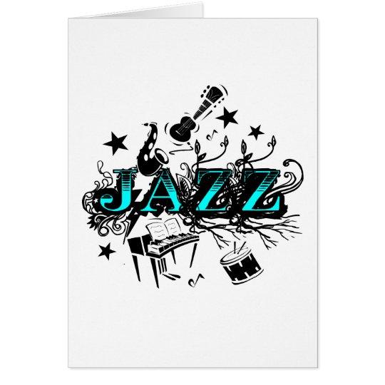 Jazz enrrollado tarjeta de felicitación