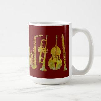 Jazz Ensemble in Gold Classic White Coffee Mug