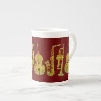 Jazz Ensemble in Gold Tea Cup