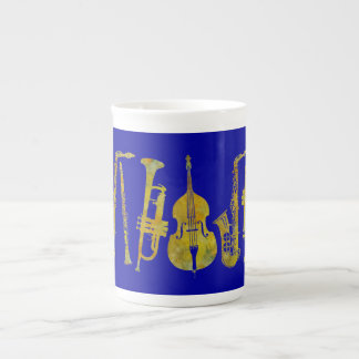 Jazz Ensemble in Gold Tea Cup