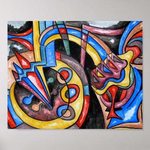 Jazz extraterrestre - poster del arte abstracto