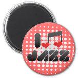 Jazz fan 2 inch round magnet