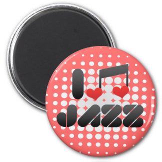 Jazz fan refrigerator magnet