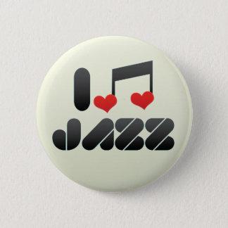 Jazz fan pinback button