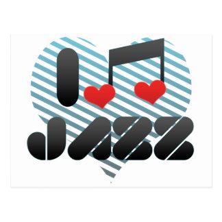 Jazz fan postcard