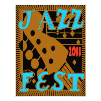 Jazz Fest 2011 Guitar Personalized Announcements