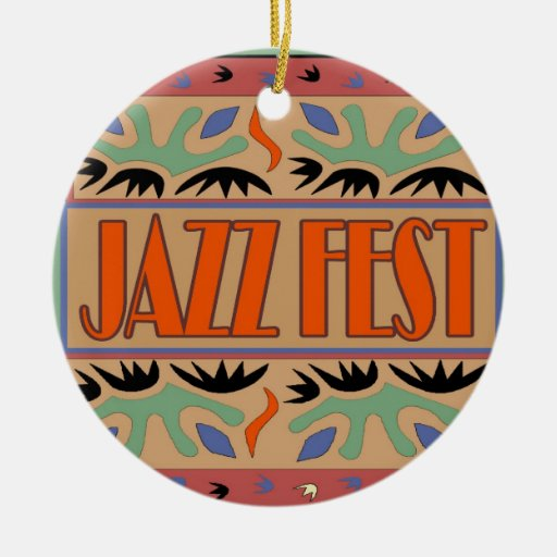 Jazz Fest Abstract Ceramic Ornament