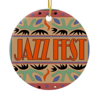 Jazz Fest Abstract ornament