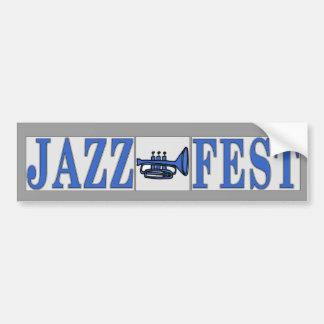 Jazz Fest Blue Horn & Letters Bumper Sticker