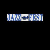 Jazz Fest Blue Horn & Letters t-shirts