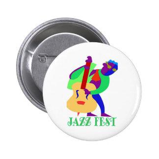 Jazz Fest Blues Man Button