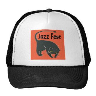 Jazz Fest Chat Noir, Red 2015 Trucker Hat